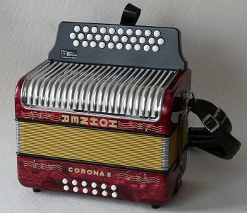 accordeon diatonique hohner corona2 sol do fa 3 rangs 2voix avec housse etbretelle mod le2009. Black Bedroom Furniture Sets. Home Design Ideas