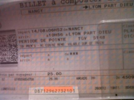 Vente de billet de train pour un tgv direct a direction - Le bon coin de meurthe et moselle meuble ...